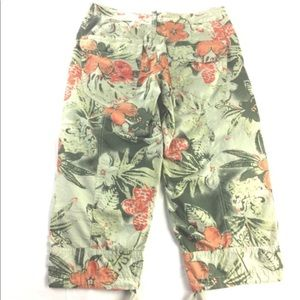 Joie Cropped Cargo Pants Floral Print 🌺🏝🍹🕶👒